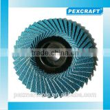 Chinese high quality zirconia abrasive wheel flap disc 100mm X 16mm