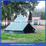 Family Outdoor Hiking Waterproof Bell Tent for Glamping Dia 4m