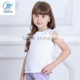 Children's Clothing Wholesale T16309 Baby Girls Tops Shirts Hollow Lace T-shirts Boutique Tops