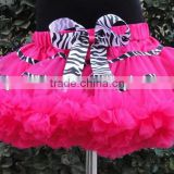 2014High Quality Fluffy Skirt Baby girls ruffle tutu pettiskirt Wholesale Baby Christmas clothing baby girls chiffon pettiskirts