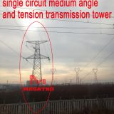 MEGATRO 220KV 2A2 J3 single circuit medium angle and tension transmission tower