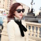 Luxury and fluffy mink fur mini scarf