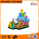 Cheap Colorful Entertainment Funny Pumpkin Bounce House Commercial Halloween Inflatable Haunted House
