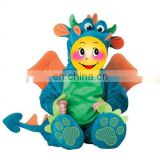2015 new design for 6-18month baby plush dragon cloth Costume party dress