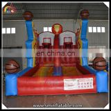 Inflatable sport game, inflatable basketball rims shooting game for sale