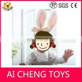 Factory customize high quality plush rabbit headband