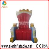 Big size inflatable chair seat, inflatable king's sitting seat, king's inflatable chair
