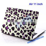 Popular Folio Plastic Leopard Hard Shell Case For Apple Macbook Air 11 inch