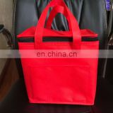 80gsm red non woven aluminium foil insulation cooler Bag for travelling