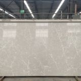 Artificial carrara grey color quartz stone