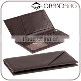 genuine leather RFID travel pocket organizer passport card holder wallet with bill pocket                                                                         Quality Choice