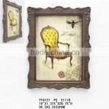 Vintage Europe Style Wooden Picture Frame for home, reasurant, coffee shop and bar wall decoration