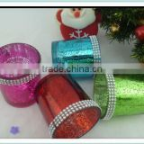 coins glass candle holder for chrismas centerpieces