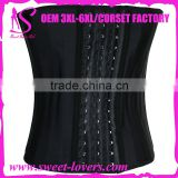 China 2016 Steel Boned Corset Latex/Spandex Waist Cincher waist trainer For Women and Man