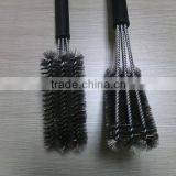 Amazon hot seller 18 inch barbecue brush/3 heads brush grill cleaning brush