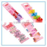 Wholesale hair accessory glitter hair bow bobby pin polka dot ribbon bow hair pin