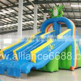 pvc inflatable games for kids, inflatable sliding slide, water park slides for water park