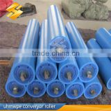 engineering plastic belt trough conveyor return uhmwpe idler roller carrier idler roller