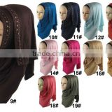 New Style Rhinestone Beaded Fashion Jersey Instant Hijab                                                                         Quality Choice