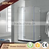 china supplier high quality 304 stainless steel towel bar square hinge frameless bathroom bathtub shower enclosure