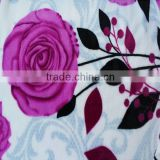 Customized polyester double knit flannel fabric