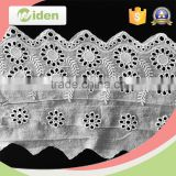 Hot selling cotton lace handkerchiefs wholesale floral embroidery lace
