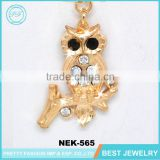custom logo printed jewelry boxes gold chain owl necklace for girl
