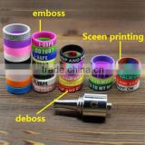 Deboss/Emboss/screen printing custom huge vaping 22mm diameter anti-slip silicone vapor band for electronic cigarette atomizer
