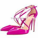 Ladies' 10cm Buckle Cross Strap High Heels Casual Sandal Ladies' Dress Sandals Woman High Heel Shoes                                                                         Quality Choice