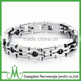 Stainless Steel Wristband Link Chain Men's Hematite Ball Link Chain Bracelets For Men And Women