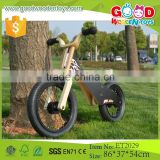 ET2029 Factory best selling wooden toy bike, black color bike toy vehicle