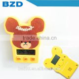Kids Gift Promotional Cartoon Subject Bear Custom 99Minutes59Second Cute Count Up and Count Down Timer Gift for Kids