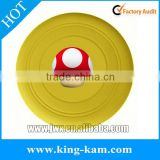 Wholesale Custom flexible folding color silicone pet frisbee flying ring frisbee