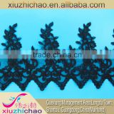 X0593 lace evening dress lace manufacturer decorative polyester fabric applique embroidery lace