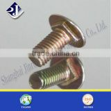 top quality yellow zinc plated round head bolt
