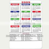 wholesale 2016 4C printing logo free monthly fridge magnet calendar