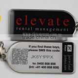 Epoxy coated metal offset printing key tags with 30 mm keychain                                                                         Quality Choice