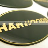 Screen printed automotive company logo badges with resin dome finish (M-EP311)                                                                         Quality Choice