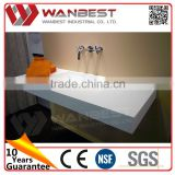 China gold supplier best sell bathroom vanity with poly marble counter