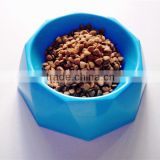 Plastic Diamond shape dog bowl Puppy Dog Eating Feeder Dish Pet Dog Cat Feeding Food Bowl Hot