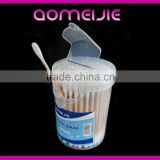 customized wooden cotton swabs in plastic tube
