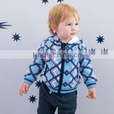 DB1528 blue davebella 2014 spring/autumn new arrival flour printed baby coat babi outwear baby clothes