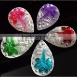 20*30mm Teardrop Rhinestone Resin Stone 2 Holes Sew On Clothing Garment Dress Accessories
