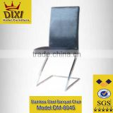 Stackable Office Furniture/Classic Stainless Steel Frame leather Sofa Chair/ Modern Office Chair
