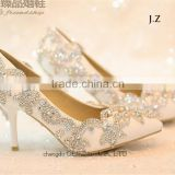 Shiny OW14 Girls crystal wedding shoes bridal shoes                                                                         Quality Choice