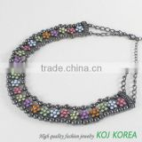 KN-164 flower shape costume jewelry necklace