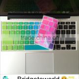 Rainbow Silicone Soft Keyboard Cover Skin Sticker for Apple Macbook Air pro retina 13.3 15 Layout