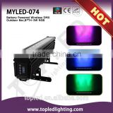 8pcs tri-in-1 3W RGB leds stage lighting professional water-proof led wall washer light RGB with IR remote