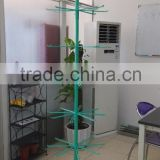 flexible rotating metal display stands with hooks, 5 tiers height adjustable metal display stand