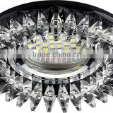 Crystal glued spotlight with clear crystal ceiling light MR16 GU5.3 house decoration side lighting holiday decoration